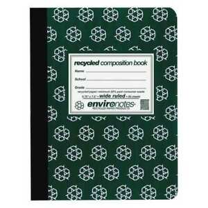 24pk Recycled Composition Books 80 Sht 9 75 x7 5 Wide Rd