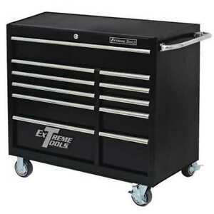 Extreme Tools Inc Pws4124rctxbk Roller Cabinet 41 11 Drawer 24 Deep