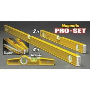 Stabila 80a 2m 29924 Magnetic Torpedo Pro set 2ft And 4 Ft