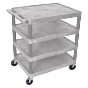Utility Cart four Flat Shelf Luxor Bc40 g