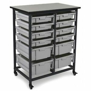 Stackable Storage Bins 8 S 4 L Luxor Mbs dr 8s4l