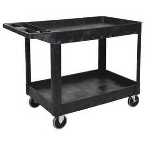 Utility Cart 2 Shelf heavy Duty Luxor Xlc11 b