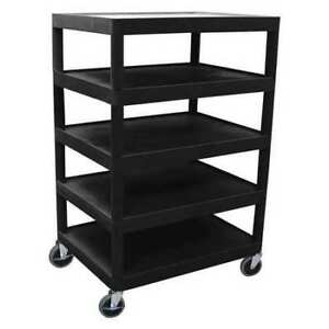 Utility Cart five Flat Shelf Luxor Bc55 b