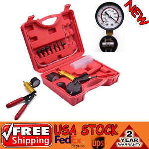 Hand Held Brake Bleeder Vacuum Pump Tester Tool Kit Manual Pistol Pump