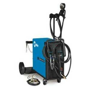 Wheeled Mounted Mig Welder Millermatic 252 W spool Series 208 240vac