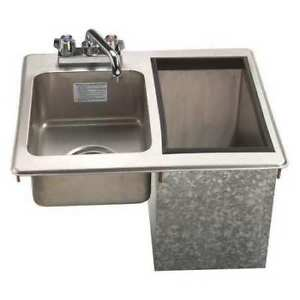 Sink drop in Hand w ice Bin 23 Lb Cap Advance Tabco D 24 sibl x