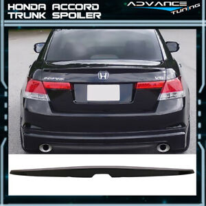 Fits 08 12 Honda Accord Oe Trunk Spoiler Painted Nh731p Crystal Black Pearl