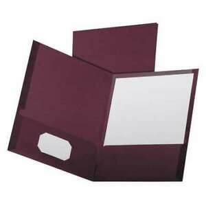 Two Pocket Folders 8 1 2 X11 Burgundy Pk25 Oxford 53441