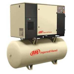 Air Compressor 20 Hp 51 2 Amps Ingersoll Rand Up6s 20 125 120 230