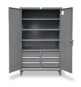 Strong Hold 56 244 6 5db Storage Cabinet 12 Ga 78 In H 60 In W