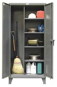 Strong Hold 36 bc 244 Janitorial Storage Cabinet welded 12 Ga
