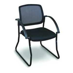 Visitor Chair arms black black Fermata Wmcslbba