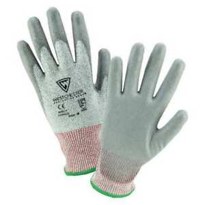 Coated Gloves 10 Gauge gray m pk12 West Chester Protective Gear 710hgu m