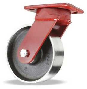 Plate Caster kingpinless Swivel forged Steel 6 In 2500 Lb