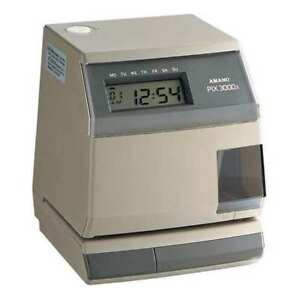 Amano Pix 3000x a030 Time Clock digital lcd G0657618