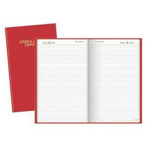 Standard Diary Daily Planner red At a glance Sd38177