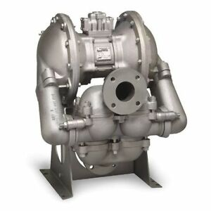 3 Stainless Steel Air Double Diaphragm Pump 260 Gpm 220f