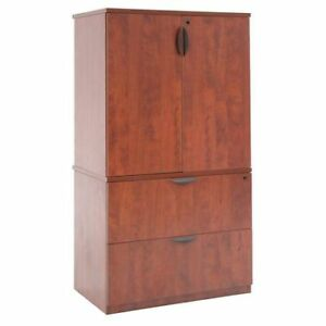 Storage Cabinet lateral File Cabinet 65 h X 36 w X 24 d Cherry