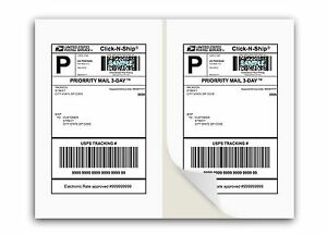 1000 Shipping Labels W Self Adhesive Square Corner For Laser Inkjet Printers