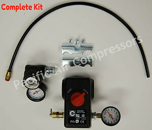 Condor Mdr11 11 Ea Pressure Switch Kit 100 Psi On 125 Psi Off 4 Port W on off