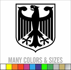 German Eagle Crest Deutschland Germany Flag Panzer Decal Sticker Sizes Colors