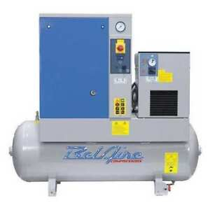 Air Compressor dryer 7 5hp 60gal 3 phase Belaire Br75503d