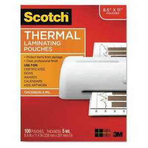 Scotch Tp5854100 Pouch thermal Laminator 5mm pk100