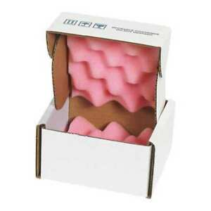 Anti static Foam Shippers 5 x5 x3 pink white pk24 Partners Brand Fsa553