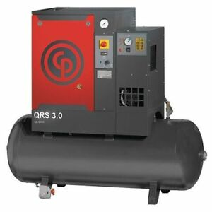Rotary Screw Aircomp dryer 3 Hp 60 Gal Chicago Pneumatic Qrs 3 0 Hpd Tm