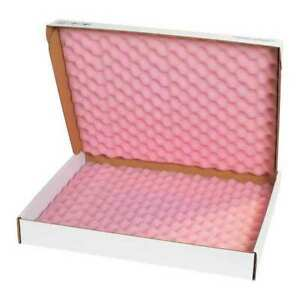 Partners Brand Fsa22182 Anti static Foam Shippers 22 x18 x2 3 4 pink wht pk12