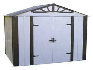 Outdoor Storage Shed 77 Cu Ft sand Arrow Sheds Ds108