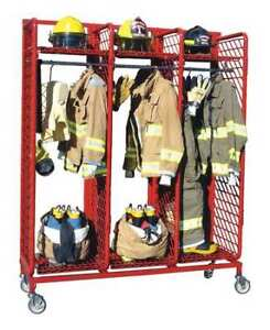 Grove Rmds 6 24 Turnout Gear Rack 2 Side 6 Compartment