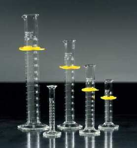 Graduated Cylinder 500ml glass clear pk8