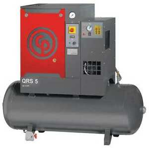 Rotary Screw Air Compressor W air Dryer Chicago Pneumatic Qrs 5 Hpd