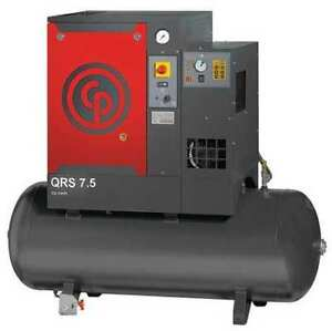 Chicago Pneumatic Qrs 7 5 Hpd Rotary Screw Air Compressor W air Dryer