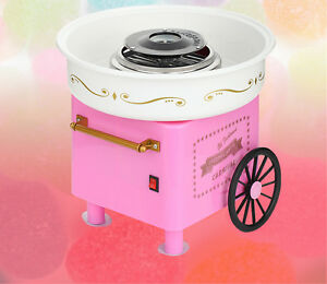 220v 110v Mini Cotton Candy Maker Machine Vintage Retro Carnival Kids Hard Sugar