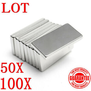 10 100pcs Neodymium Block Magnet 20x10x2mm Super Strong Rare Earth Magnets Ls
