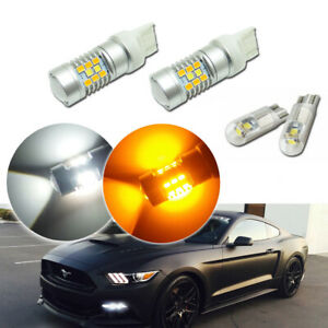 Switchback Led Kit For 2015 Up Ford Mustang As Daytime Running Light Turn Signal