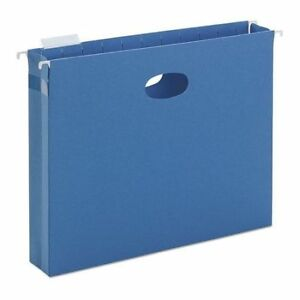 Smead 64250 Hanging Pocket Folder Blue Pk25