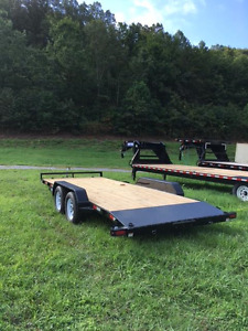 Sure trac 7 x18 Wood Deck Car Hauler