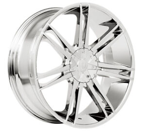 26 Inch Chrome Borghini B20 Rims Wheels 22 24 28 30