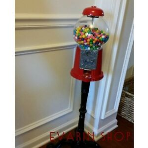 Gumball Candy Dispenser Machine Bulk Stand Vending Coin Bank Concession Kids