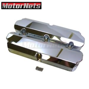 Small Block Ford Sbf Fabricated Chrome Valve Cover 289 302 351w Tall 5 0l Nohole