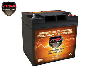 Vmax V30 800 Agm Deep Cycle12v 30ah Battery For Synthesis Renogy Pv Solar Panel