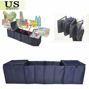 Car Suv Trunk Cargo Organizer Collapsible Folding Vehicle Rear Storage Container
