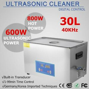 30 L Ultrasonic Cleaners Cleaning Equipment Industry Heated W Timer Jewelry Hm