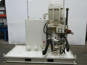 Morrell 40 Hp 950 Psi 200 Gal Double Pump Hydraulic Power Station