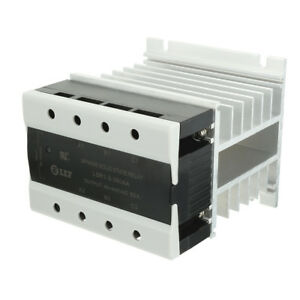 Ac To Ac 80a 90 250vac To 40 440vac Ssr 3 Phase Solid State Relay Heat Sink
