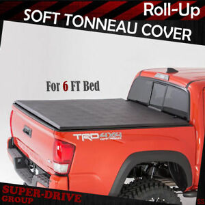 Premium Lock Roll Up Soft Tonneau Cover For 2016 2018 Toyota Tacoma 6 Ft 72 Bed