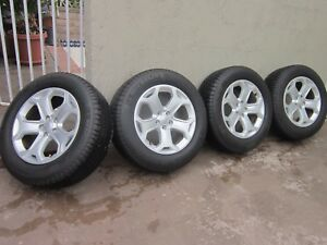 Ford Edge 18 Oem Wheels Rims And Tire Set